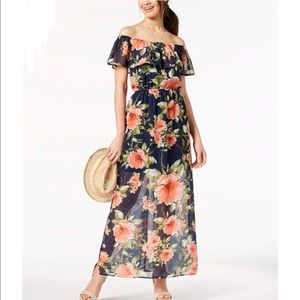 NWT Crystal Doll Floral Dress Off-The-Shoulder